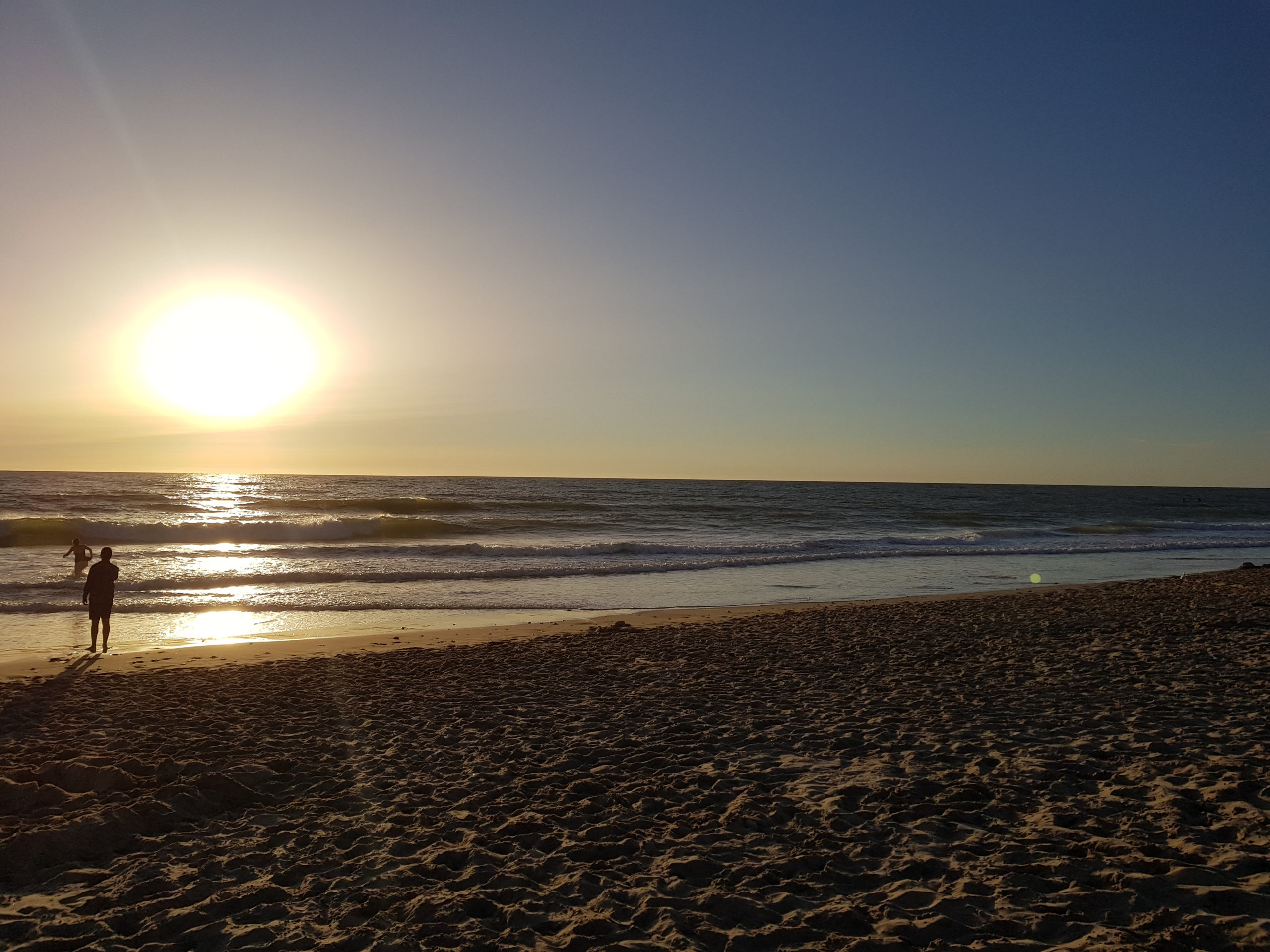 Coucher de soleil à la plage.